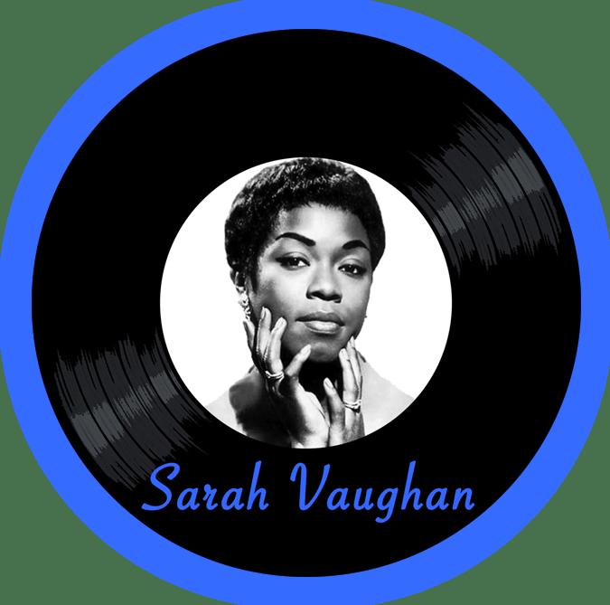 Black to the Music - Sarah Vaughan - logo header