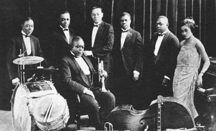 Black to the Music - Louis Armstrong - 07 King Oliver's Creole Jazz Band 1923 - (c) Baby Dodds - Frank Driggs