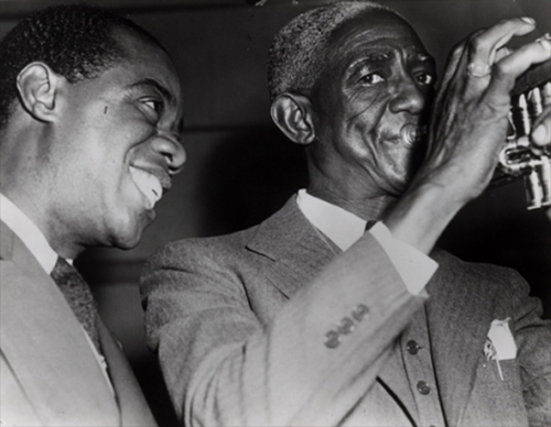 Black to the Music - Louis Armstrong - Bunk Johnson and Louis Armstrong in San francisco 1941
