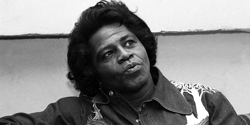 Black to the Music - James Brown B7 - James Brown during Daily News interview before performing - (c) NY Daily News Archive - Getty Image