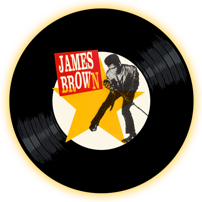 Black t othe Music - James Brown logo header