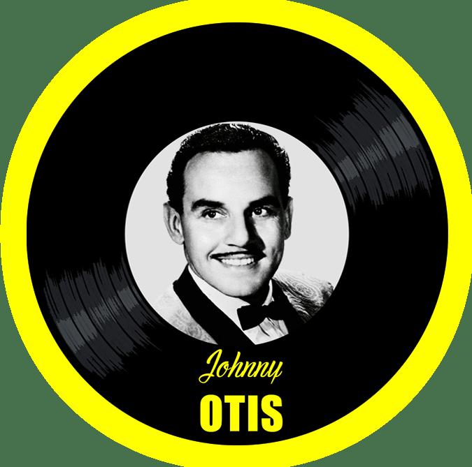 Black to the Music - Johnny Otis logo header