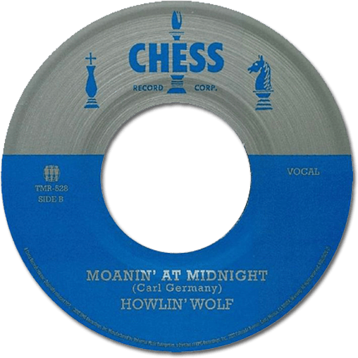 Black to the Music - 45t Howlin' Wolf - Moanin' In The Moonlight
