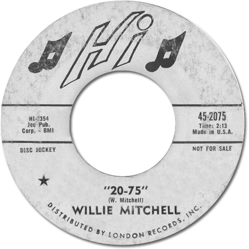 Black to the Music - 45t Willie Mitchell - 20-75
