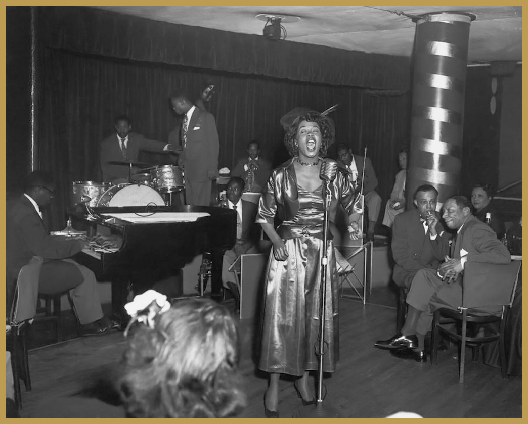 Black to the Music - 1950 Sarah Vaughan, NYC (photo F.Driggs)