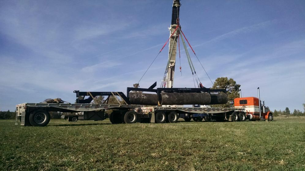 Loading 30 ft land roller