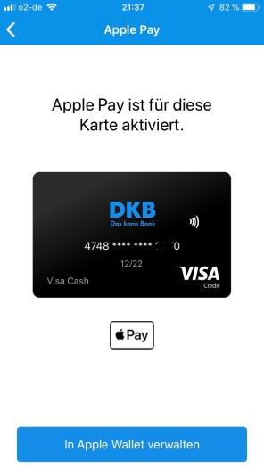 Auch die DKB ist nun seit dem 18.06.2019 bei Apple Pay dabei. So muss meine Bank sein, kann ich da nur sagen.