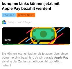 Blackwater.live - bunq.me und Apple Pay