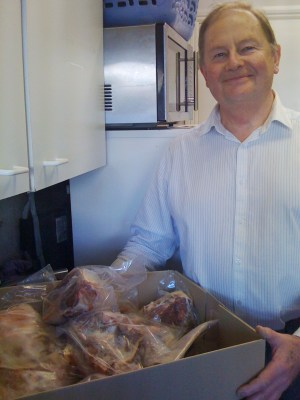 Man with Lamb Box