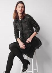 Comptoir des Cotonniers - Veste en cuir Noir