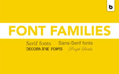 The 4 Main Font Families