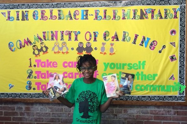 Twitter picture of Marley Dias posing for picture taken by Phillyvoice.
