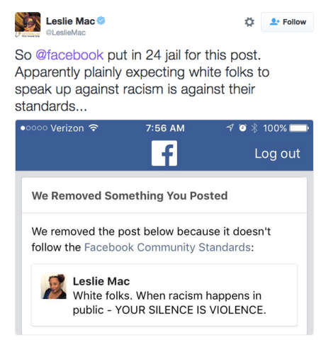 Leslie Mac's Facebook Ban Is The Latest Development In
