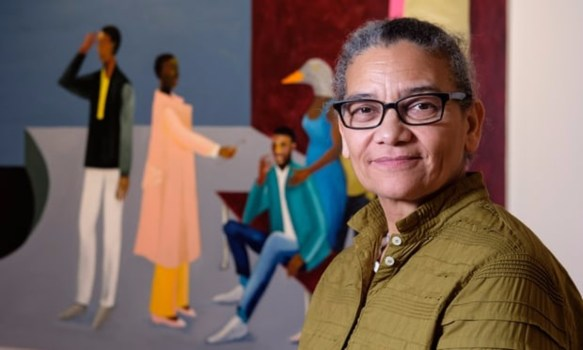 Lubiana Himid is the first Black woman artist to win England's prestigious Turner Prize