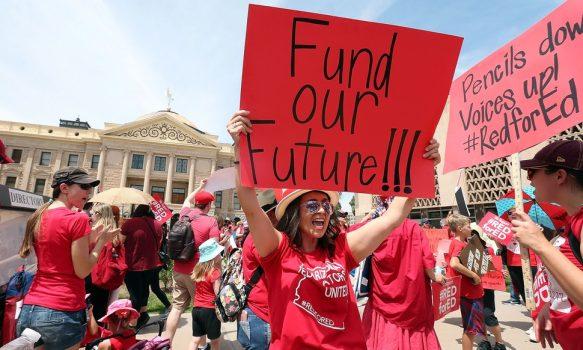 "North Carolina educators are the latest to protest in nationwide ""Teacher Revolt"""