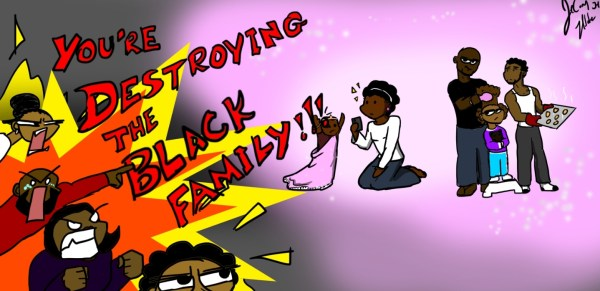 Comic: Violent heteronormativity is destroying Black families, not Black queerness