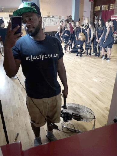 GadgetsJon wearing a Blacticulate T-Shirt