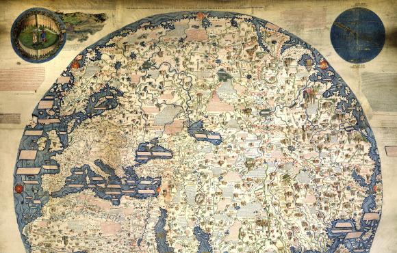 Prva moderna karta svijeta crtana je po informacijama koje je redovnik pronašao u putovanjima Marka Pola