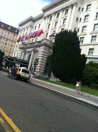 arriving to the Fairmont