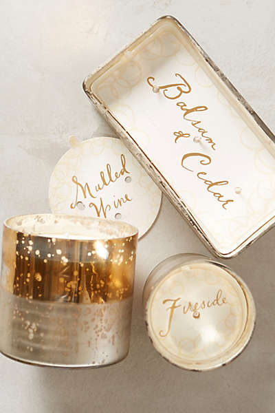 Anthropologie Holiday Candles