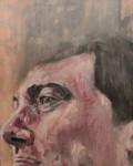 "Brian's Face, 2013, Oil on canvas, 16"" x 20"""