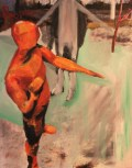 "People, 2014, Oil on canvas, 31.5"" x 31.5"""