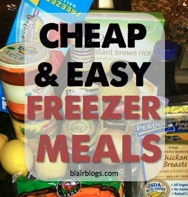 Cheap & Easy Freezer Cooking | Blair Blogs
