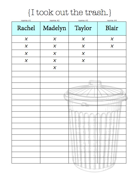 chore charts  u0026 organizational tips for living with roommates  free printables