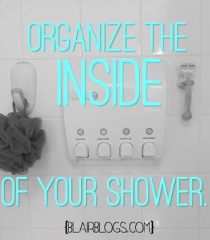 Organize the Inside of Your Shower | Blair Blogs