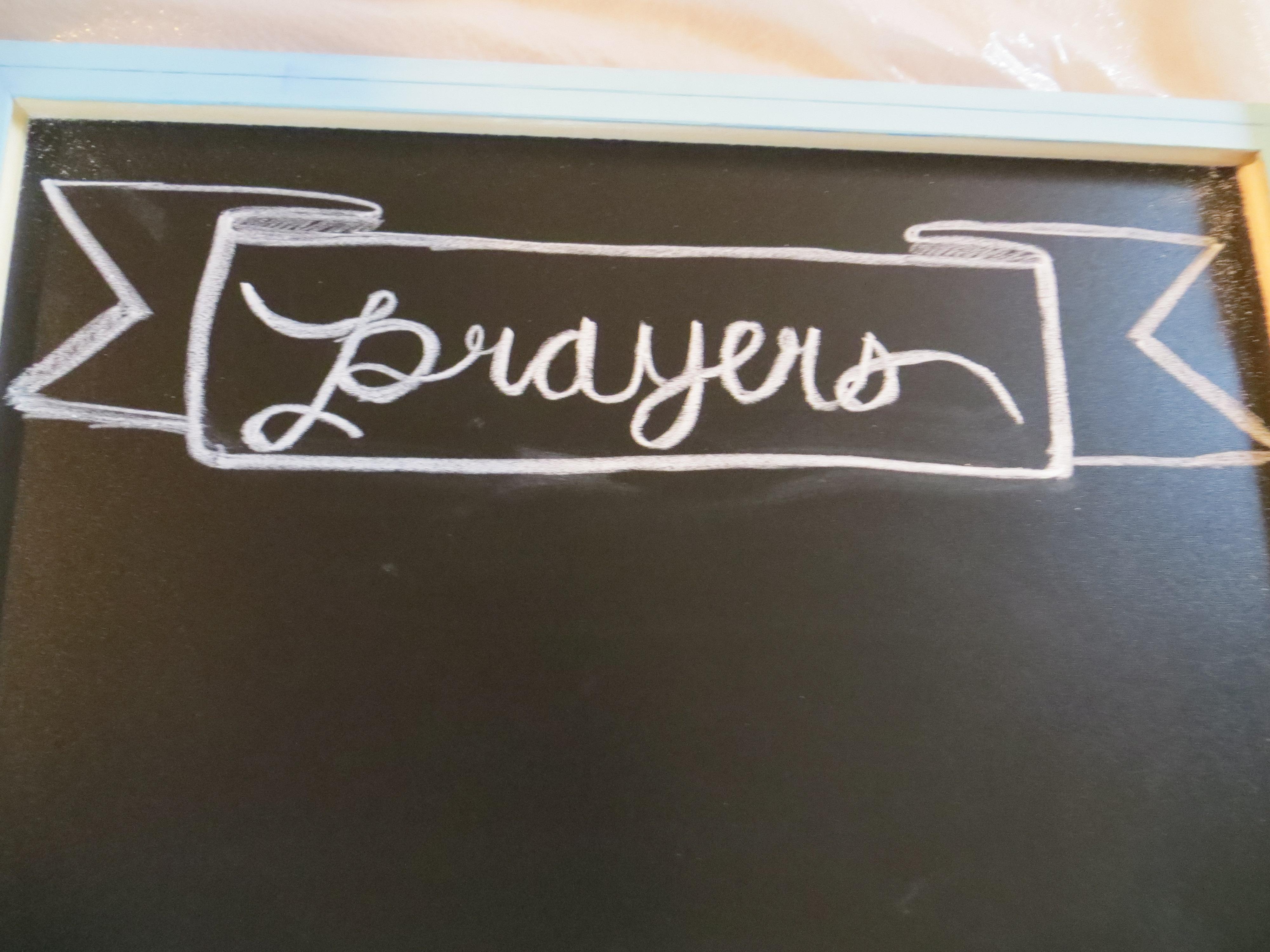 DIY Prayer Chalkboard | Blair Blogs