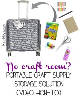 Easy portable craft storage solution   Blair Blogs