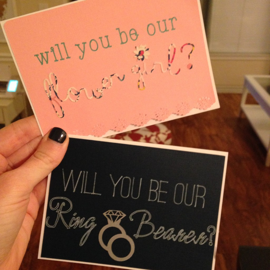 How We Asked Our Flower Girls & Ring Bearer | Blairblogs.com