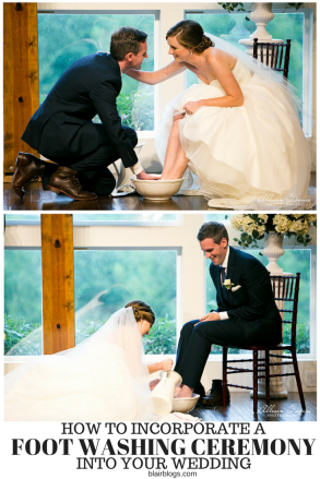 How To [gracefully] Incorporate a Foot Washing Ceremony Into Your Wedding | Blairblogs.com