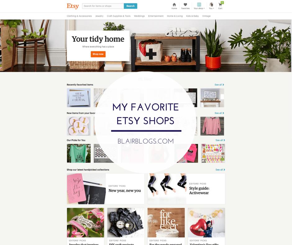 My Favorite Etsy Shops | Blairblogs.com