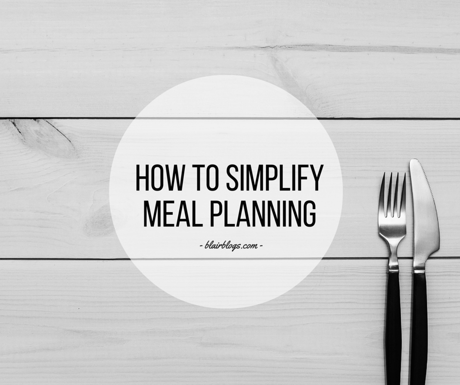 How To Simplify Meal Planning | EP07 Simplify Everything