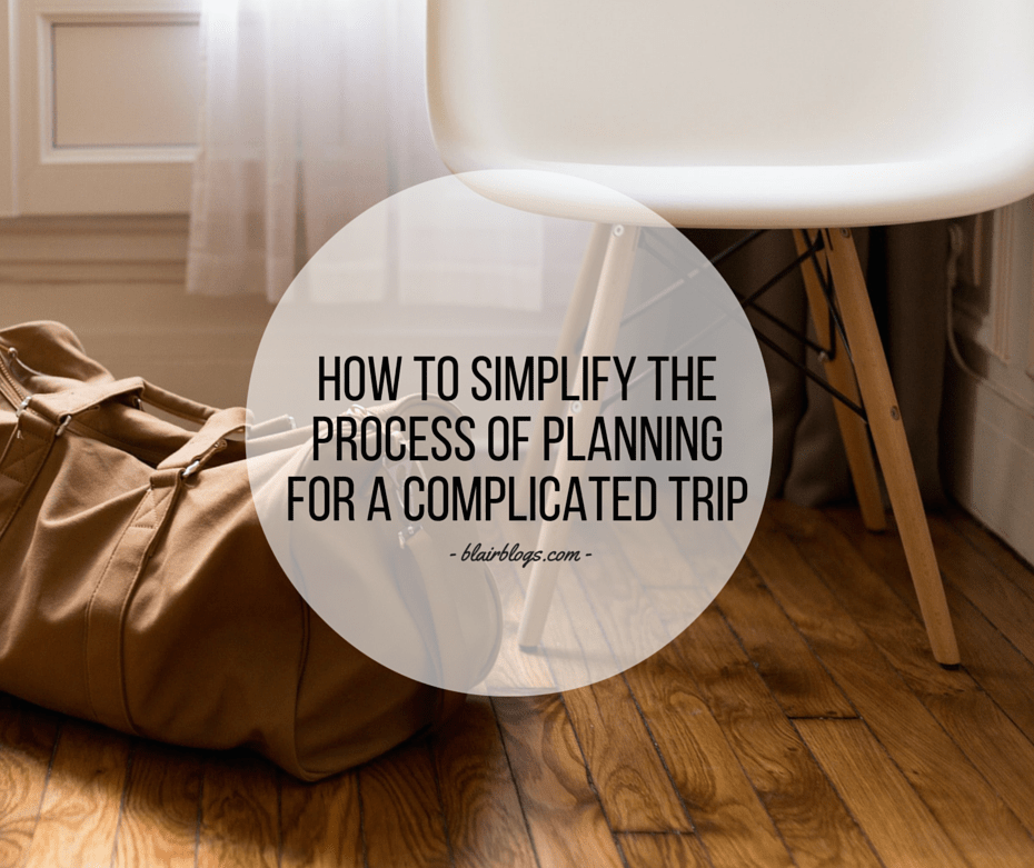 How To Simplify The Process of Planning for a Complicated Trip | EP09 Simplify Everything | Blairblogs.com