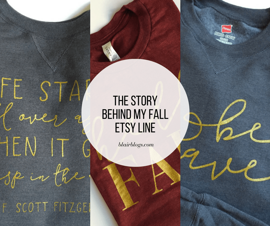 The Story Behind My Etsy Fall Line | Blairblogs.com | Blair Lamb Design on Etsy