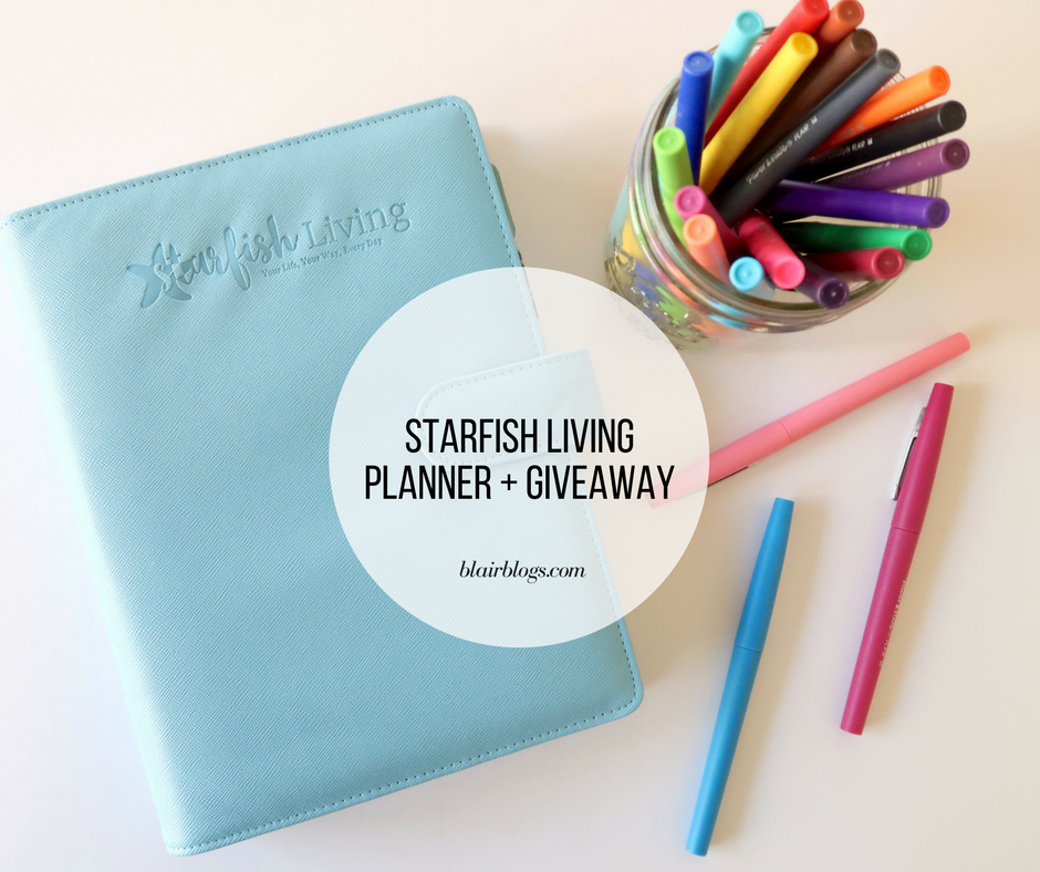 Starfish Living Planner + Giveaway | Starfish Living Inc. | BlairBlogs.com