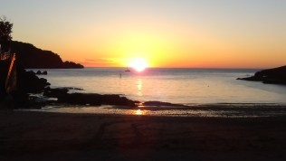 Summer Sunset from Combe Martin Beach