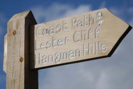 Signage from the South West Coast Path