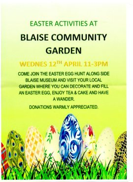 Easter Egg Hunt – Wednesday 12th April 11 to 3pm