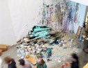 Contiguous Painting, post-performance. Photo: Chad Person