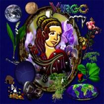 Virgo Zodiac Art Characteristic Elements Tie