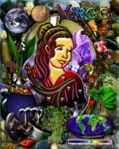 Virgo Zodiac Art With Elements