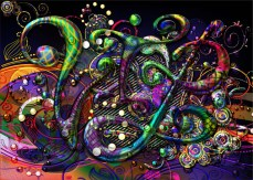 New Modern Designer Art Release Titled; VIP Vanishing Pearl and Metallic Design. As in Very Important Planet...
