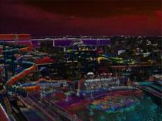 Water Park Convention Center Tropical Landscape Digital Art