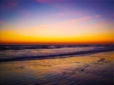 New Photo Art Titled: Ripples in the Sand Sunrise on the Beach Photo Art. Digital Photography Edit, of photo taken facing southeast along the Atlantic Ocean from the Beach