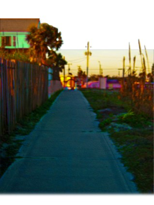 New Art Titled; Public Beach Access Trail From Beach. Digital art edit of photograph taken coming from the Daytona Beach at sunrise in January 2012