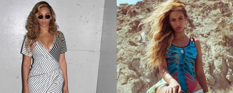 Beyonce côté ville et côté vacances, 2 looks au top