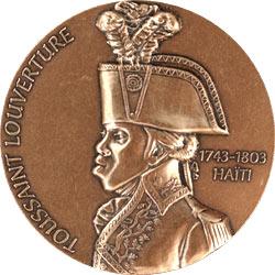 Pièce de monnaie à l'effigie de Toussaint Louverture